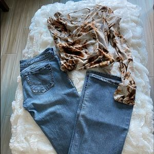 Silver Jeans with Bonus Top
